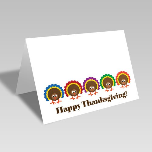Five Turkeys Card