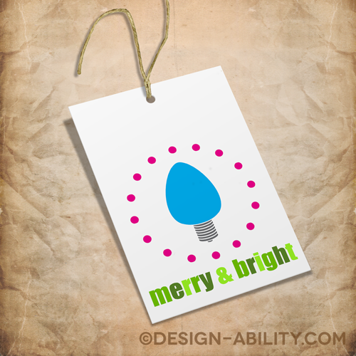 Christmas Gift Tags Set 4