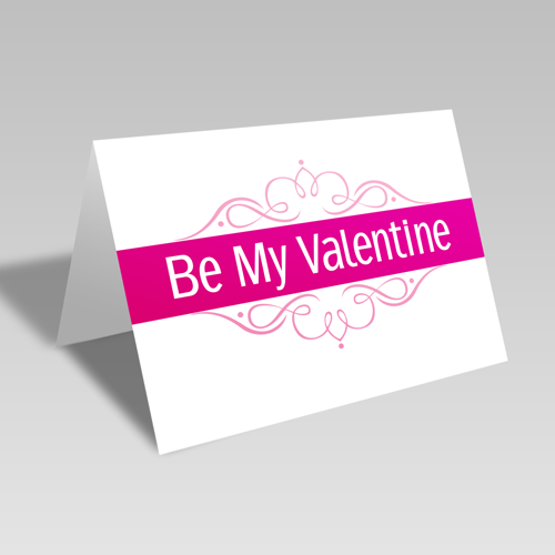 Be My Valentine Elegant Card