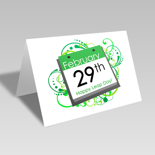 Leap Year Calendar Page Card