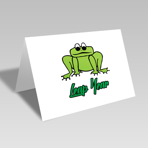 Leap Year Froggie Card