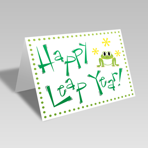 Leap Year Fun Frog Card