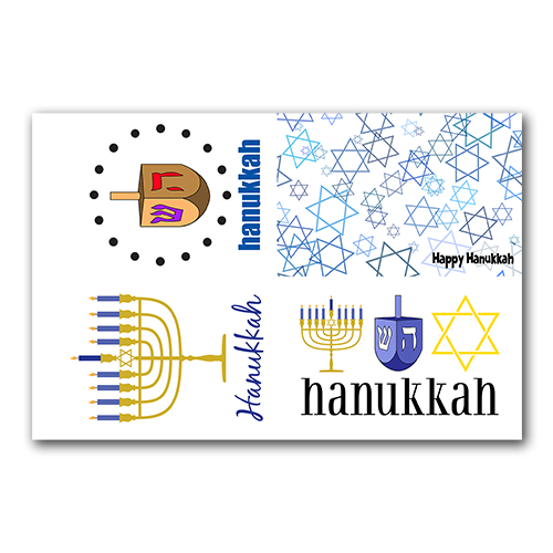 Hanukkah Gift Tags Set