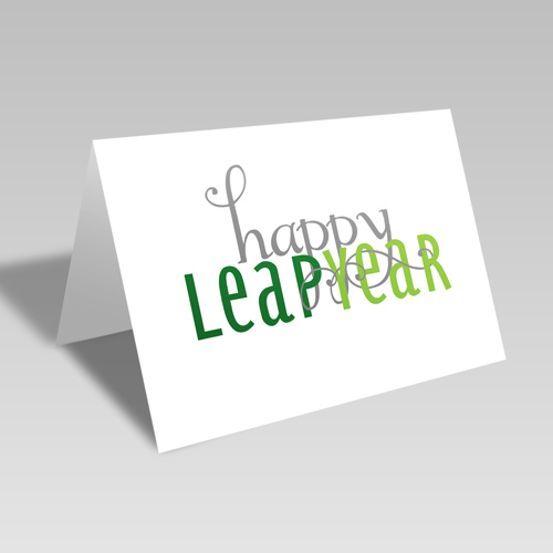 Happy Leap Year Card