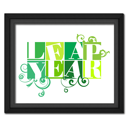 Leap Year Boxes Poster