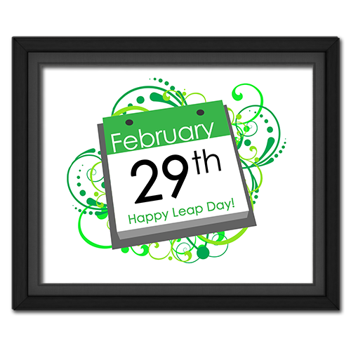 Leap Year Calendar Page Poster
