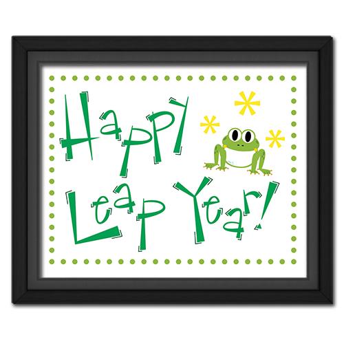 Leap Year Fun Frog Poster