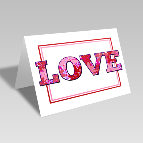 Love Flowers Card **Free Printable Download **
