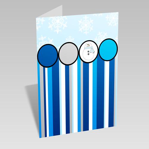Snowman Stripe Card