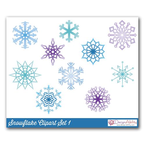 Snowflakes Clip Art Set 1