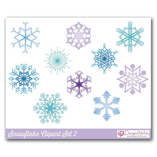 Snowflakes Clip Art Set 2