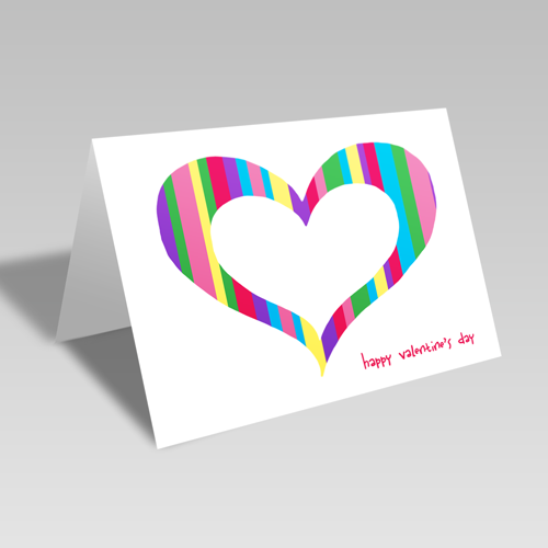 Valentine Stripes Card