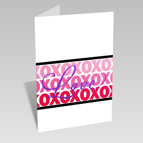 XOXOXO Love Card
