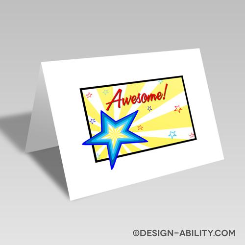 Awesome Starburst Card