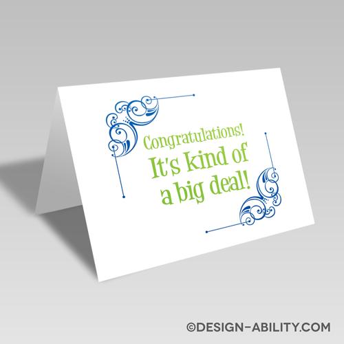Big Deal Congratulations Card