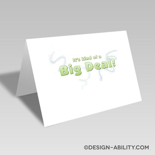 Big Deal Card: Green