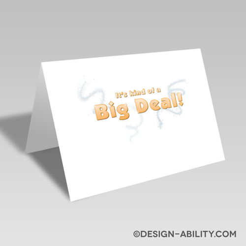 Big Deal Card: Orange