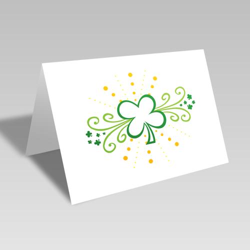 Clover Swirls Card
