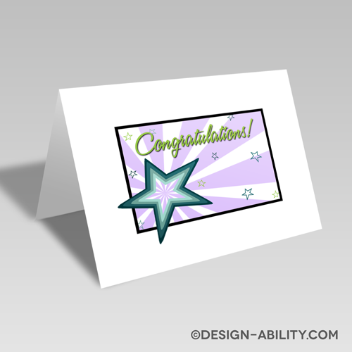 Congratulations Starburst Card