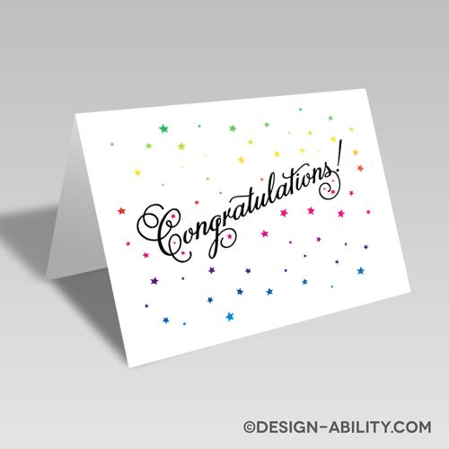 Congratulations Stars Card