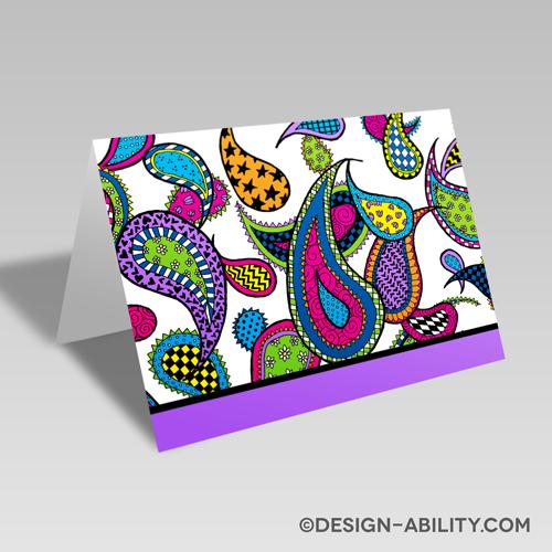 Paisley Card: Purple