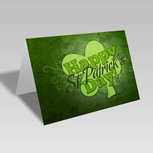 St. Patrick's Clover Card