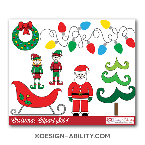 Christmas Clip Art Set 1