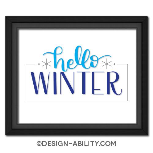Hello Winter Picture