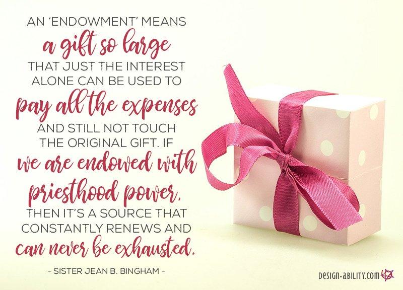 Endowed with Priesthood Power
