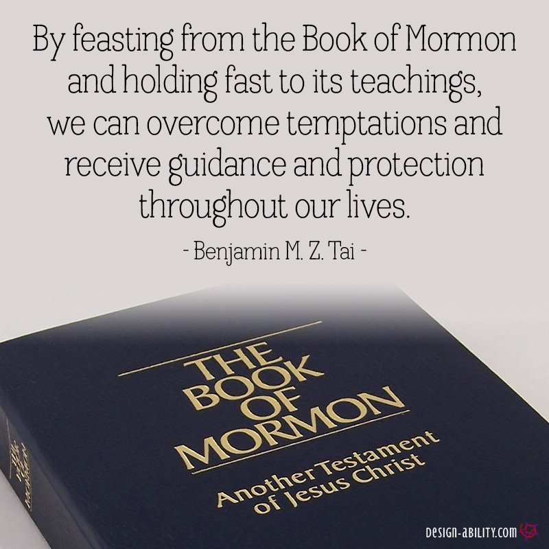 By Feasting From The Book of Mormon