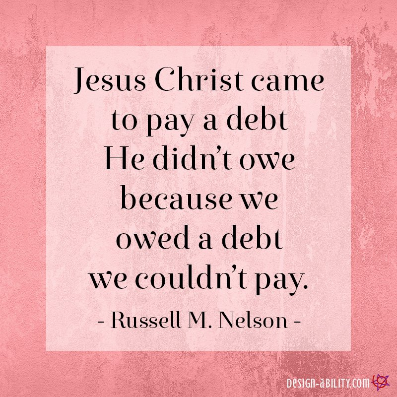 Jesus Christ Came to Pay a Debt He Didn't Owe
