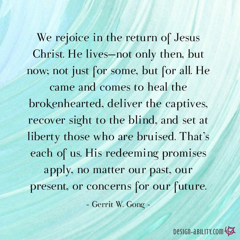 We Rejoice in the Return of Jesus Christ