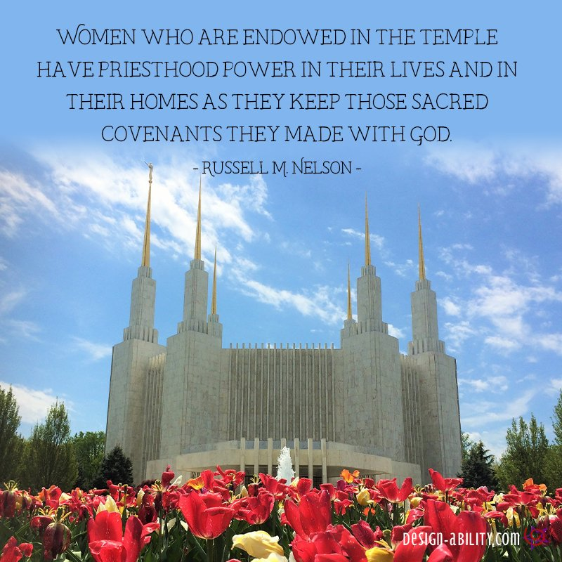 Women Who are Endowed in the Temple Have Priesthood Power