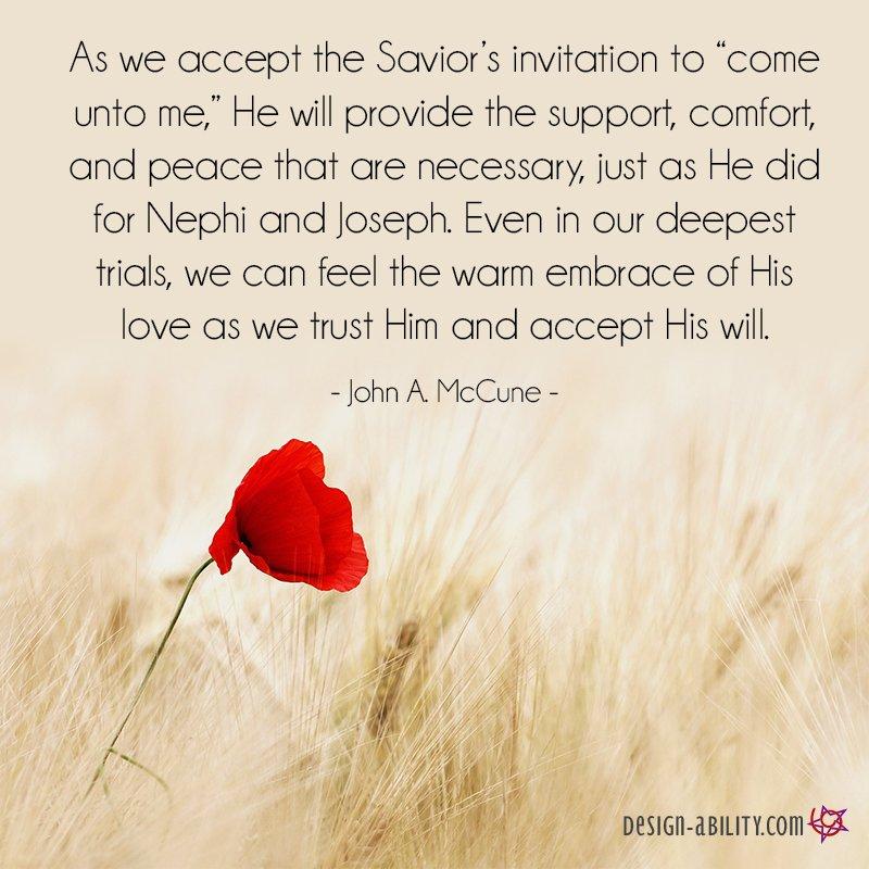 Accept the Savior's Invitation to Come Unto Him