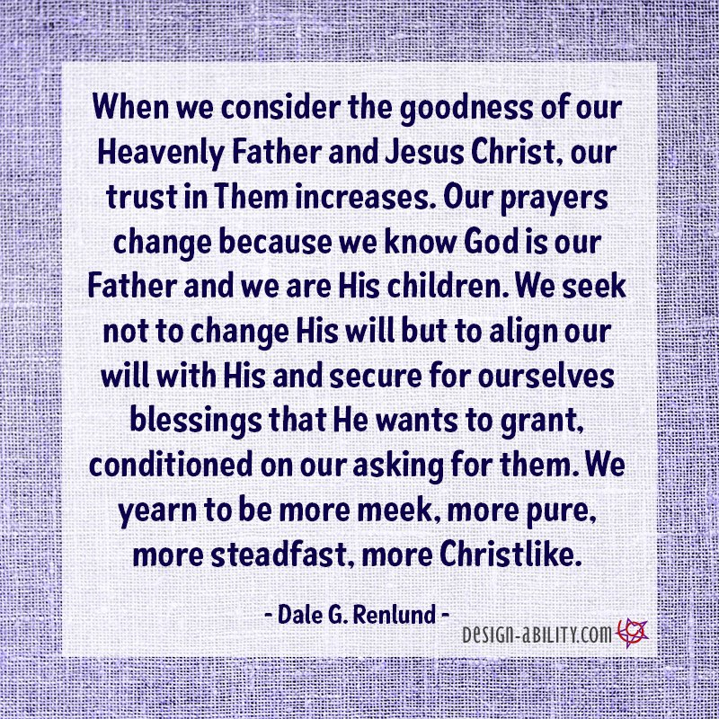 Goodness of Our Heavenly Father & Jesus Christ