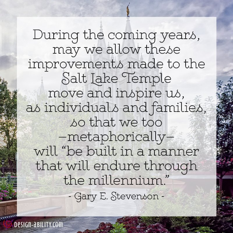 Improvements to the Salt Lake Temple Move & Inspire Us