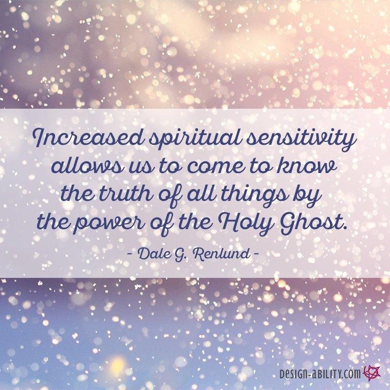 Increased Spiritual Sensitivity