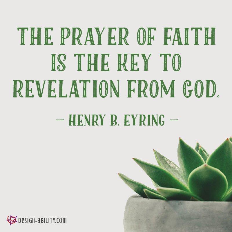 Prayer of Faith is Key to Revelation
