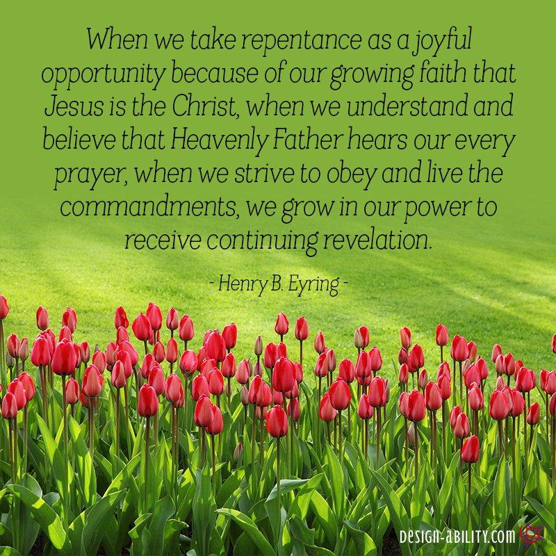 Repentance is a Joyful Opportunity