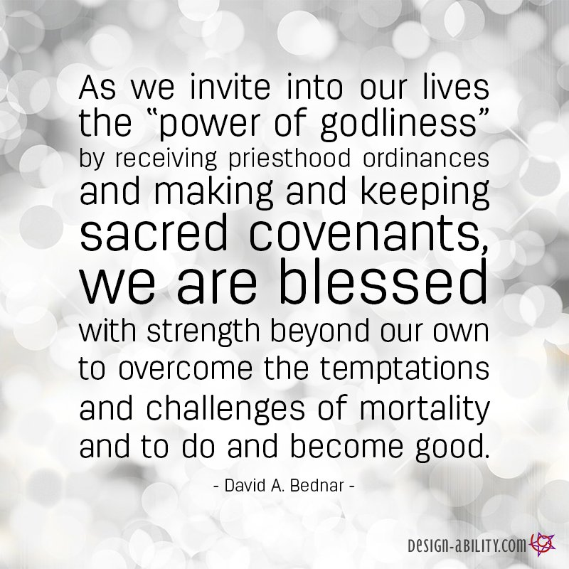 Invite Into Our Lives the Power of Godliness