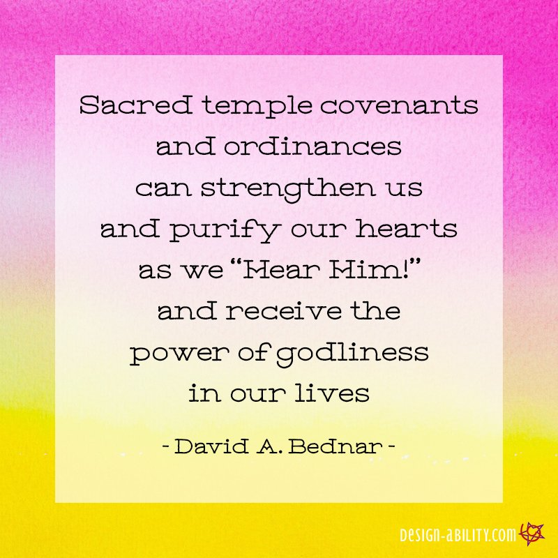 Sacred Temple Covenants & Ordinances Can Strengthen & Purify