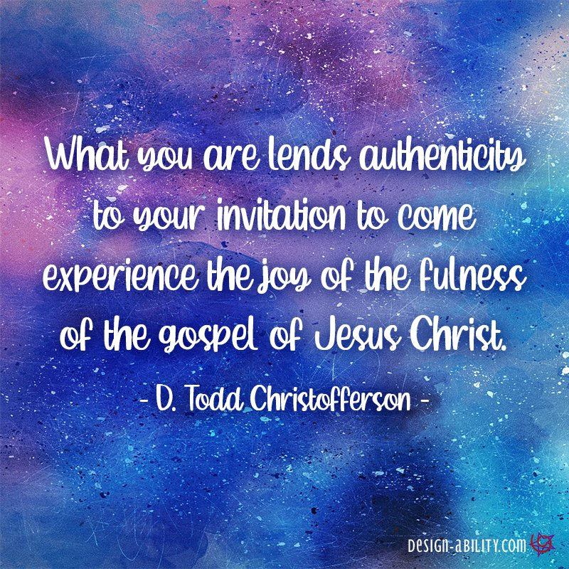 What You Are Lends Authenticity to Your Invitation