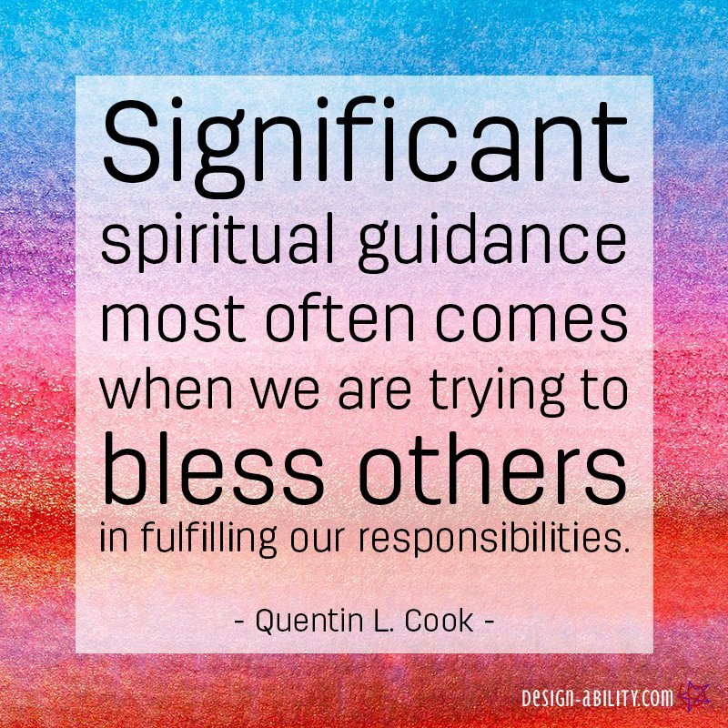 Significant Spiritual Guidance