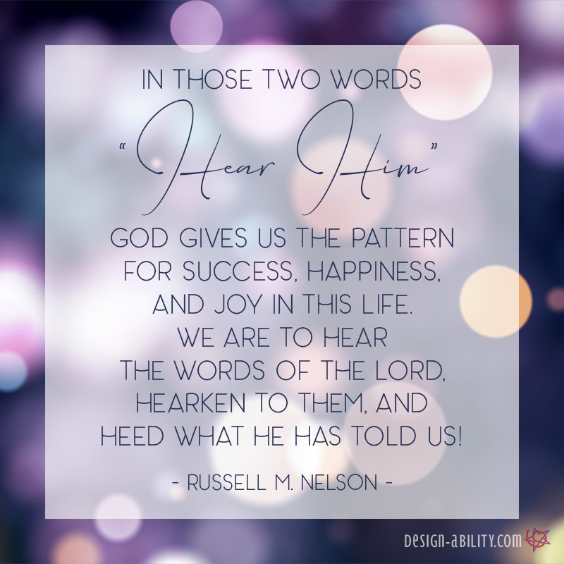 God Gives Us the Pattern For Success, Happiness, & Joy When We Hear Him