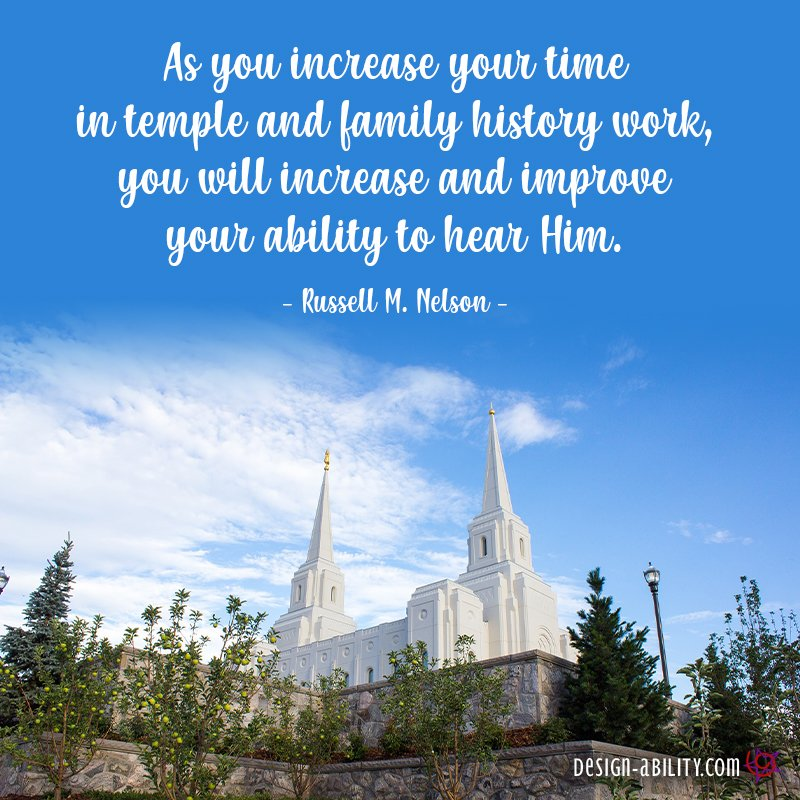 Increase Your Time in the Temple & Family History Work