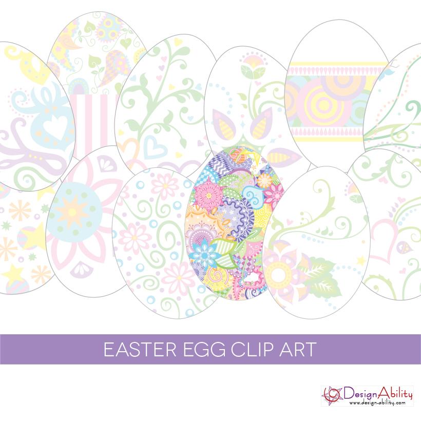 Easter Egg Clip Art Set